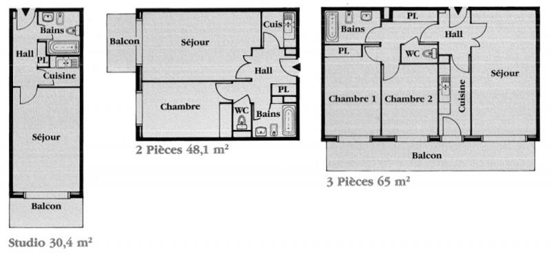 plan des appartements de la résidence